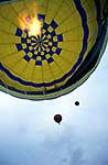 Hot air balloon and flame