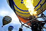 Hot air balloon being filled