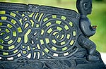 Maori carving detail on waka