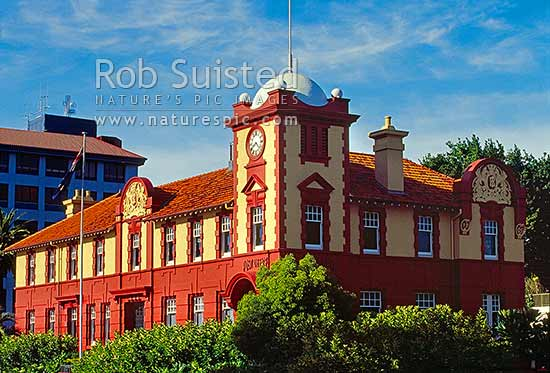 Historic Post office Building in Tauranga, Tauranga, Tauranga District, Bay of Plenty Region, New Zealand (NZ) stock photo.