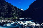 Burke River moonlight, Mt Aspiring NP
