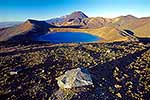Mt Tongariro and Blue Lake