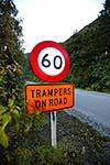 Trampers on Road sign
