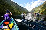 Kayakers, Doubtful Sd, Fiordland