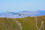 Glider over Tararua mountains