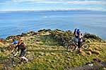Mountain bikes above Cook Strait