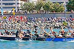 Teams competing in dragon boats