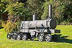 Historic bush tram locomotive
