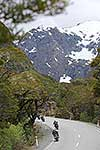 Motorbike touring South Island