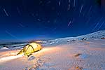 Camping on stary night