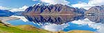 Mountains reflected in Lake Hawea