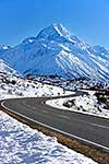 Road to Mount Cook at Wintertime