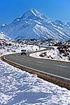 Road to Mount Cook in winter