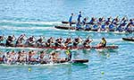 Teams competing in dragon boat race