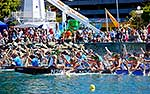 Dragon Boat racing on waterfront