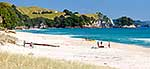 Holiday makers on Coromandel Beach