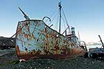 Rusty remains of Whaling boat