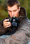 Young photographer with Cave Weta