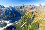 Milford Track Fiordland, aerial view