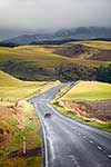 Wet road and hill country, Waiouru