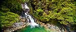 Fiordland waterfall panorama