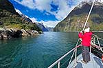 Tour boat in Milford Sound