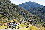 Motorbike riders in Tararua Ranges