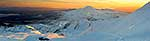 Panorama of Mount Ngauruhoe sunrise