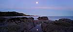Panorama of Port Awanui moonrise
