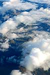 Aerial view of low cloud
