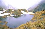 Alpine tarn in winter, Westland