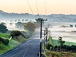 Power lines, Waikato dawn, Waiuku