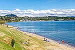 Lake Taupo lakefront, summer