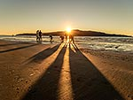 Kapiti Island sunset, with set netters