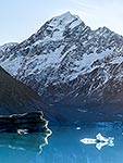 Aoraki Mt Cook and Hooker Lake
