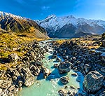 Mt Sefton and Mueller Lake, Aoraki Mt Cook NP