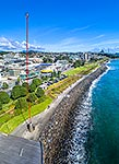 New Plymouth waterfront wind wand sculpture
