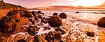 Panorama of Moeraki Boulders