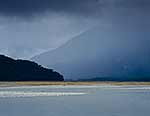 Rain over the Haast River